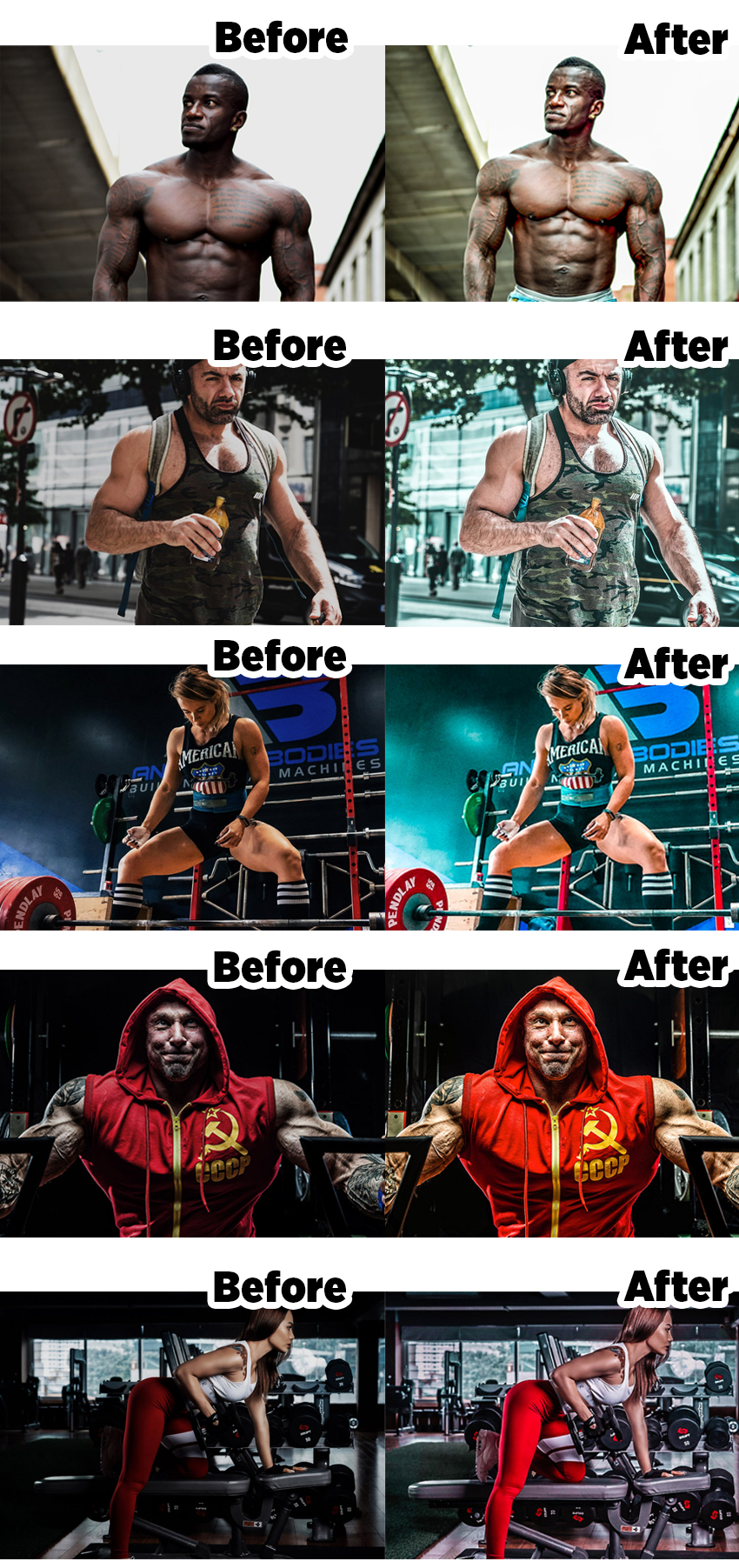 Bodybuilding Lightroom Presets